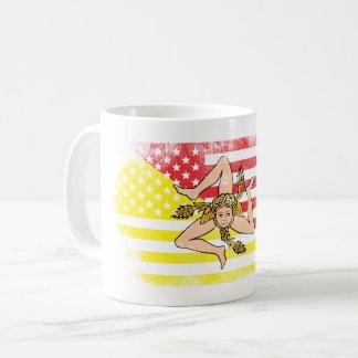 Sicilian American Flag   Sicily and USA Design Coffee Mug