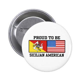 Sicilian American Pinback Button