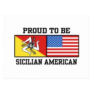 Sicilian American Postcard