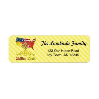 Sicilian American Roots Address Labels