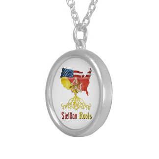 Sicilian American Roots Necklace