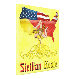 Sicilian American Stretched Canvas Print