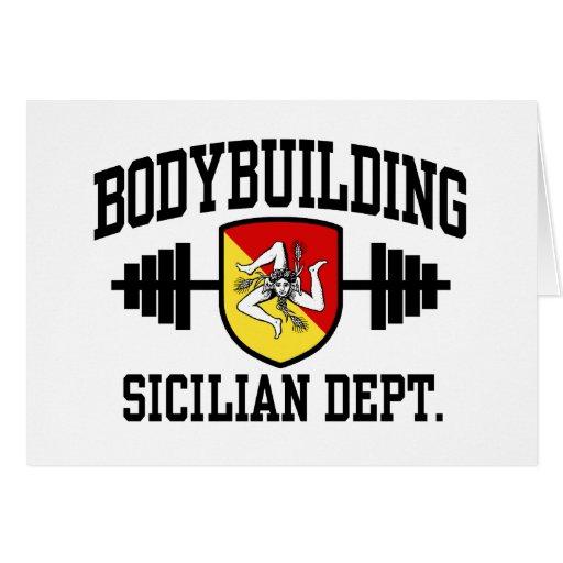 Sicilian Bodybuilder Greeting Card