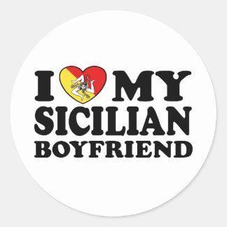 Sicilian Boyfriend Classic Round Sticker