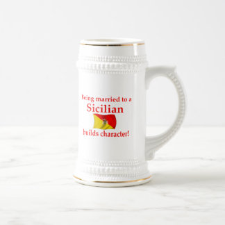 Sicilian Builds Character Beer Stein