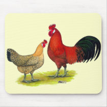 Sicilian Buttercup Chickens Mouse Pad