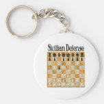Sicilian Defense Keychains