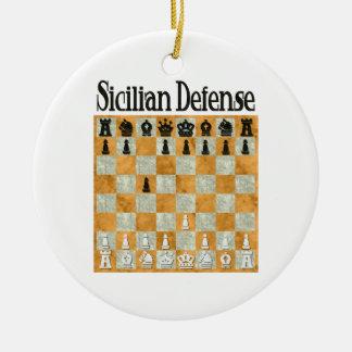 Sicilian Defense Ornament