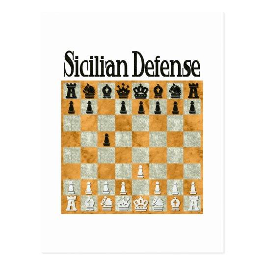 Sicilian Defense Postcard