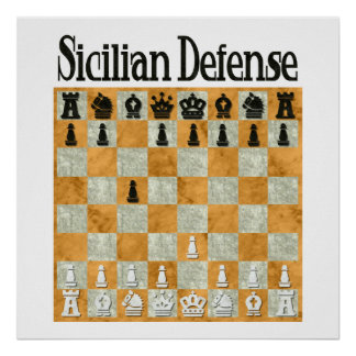 Sicilian Defense Poster