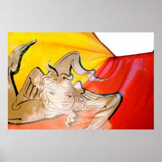 Sicilian Flag Poster