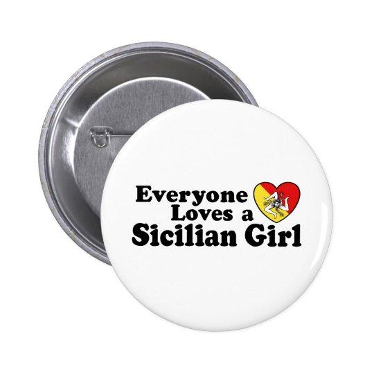 Sicilian Girl Button