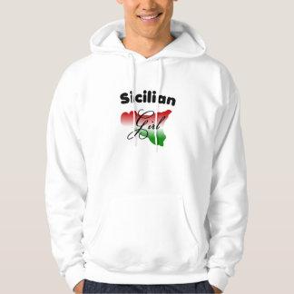 Sicilian Girl Hooded Sweatshirt