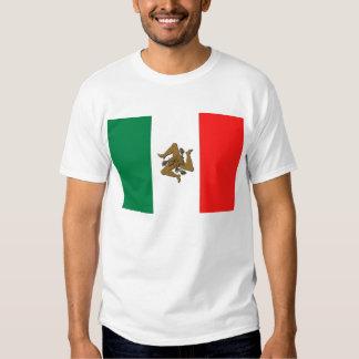 Sicilian Italian Flag Tee Shirts