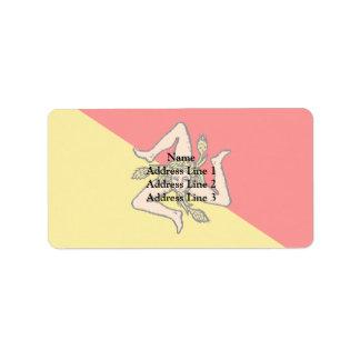 Sicilian, Italy Custom Address Label
