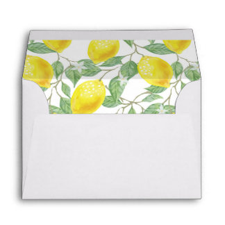 Sicilian Love - Printed Lemon Envelopes