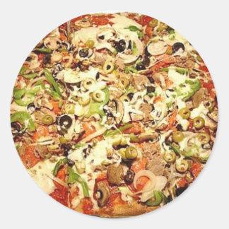 SICILIAN PIZZA PIE CLASSIC ROUND STICKER