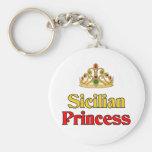 Sicilian Princess Basic Round Button Keychain