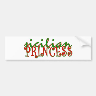 Sicilian Princess Car Bumper Sticker