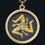 "Sicilian Trinacria in Gold Gold Plated Necklace<br><div class=""desc"">Sicilian Trinacria in Gold</div>"