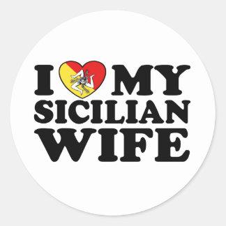 Sicilian Wife Classic Round Sticker