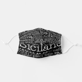 Sicilian Word Art Cloth Face Mask