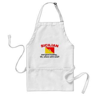 Siciliano apuesto delantal