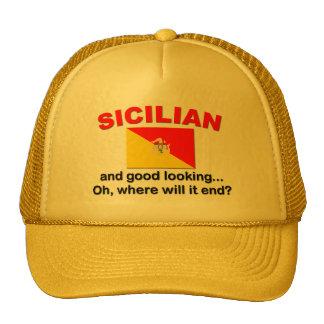 Siciliano apuesto gorras de camionero