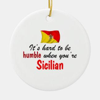 Siciliano humilde adorno redondo de cerámica