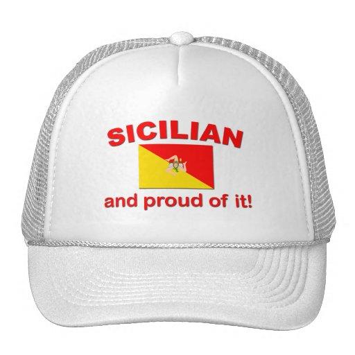 Siciliano orgulloso gorros bordados