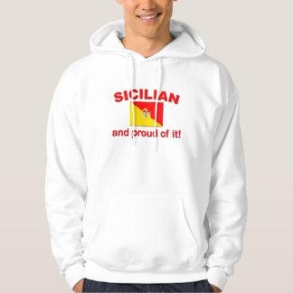 Siciliano orgulloso sudadera con capucha