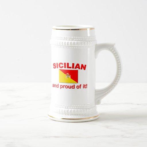 Siciliano orgulloso tazas