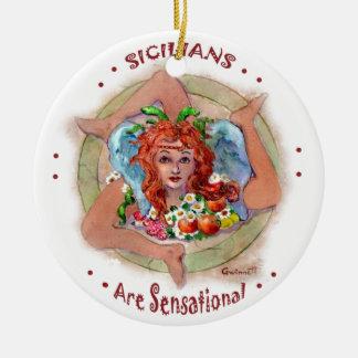 Sicilians are Sensational Ceramic Ornament