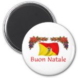 Sicily Christmas 2 Inch Round Magnet
