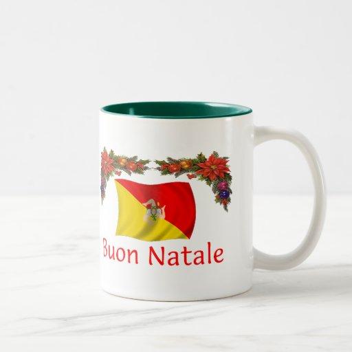 Sicily Christmas Two-Tone Coffee Mug
