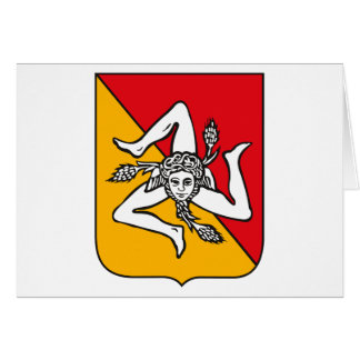 Sicily Coat of Arms Greeting Card