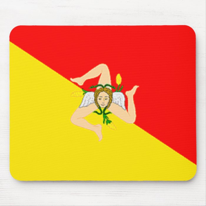 Sicily Flag Mousepad