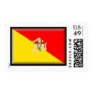 Sicily Flag Postage