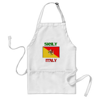 Sicily Italy Adult Apron