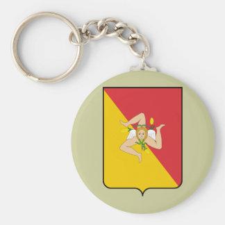 Sicily, Italy Basic Round Button Keychain
