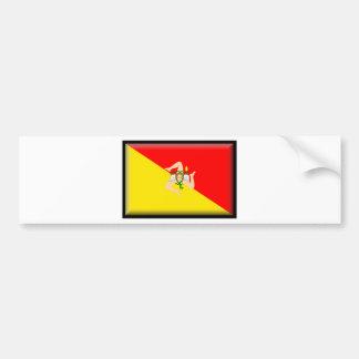 Sicily (Italy) Flag Bumper Sticker