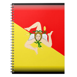 Sicily (Italy) Flag Note Book