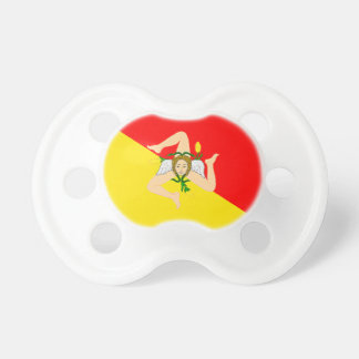 Sicily (Italy) Flag Pacifier