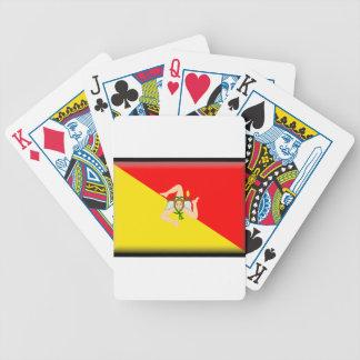 Sicily (Italy) Flag Poker Deck