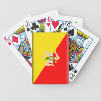 Sicily (Italy) Flag Bicycle Poker Cards