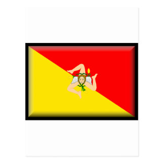 Sicily (Italy) Flag Postcard