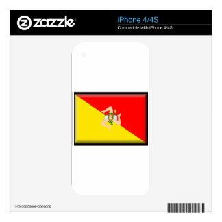 Sicily (Italy) Flag Skin For The iPhone 4
