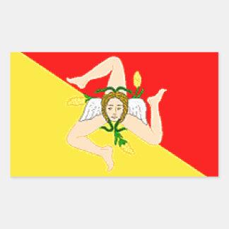 Sicily (Italy) Flag Rectangular Sticker