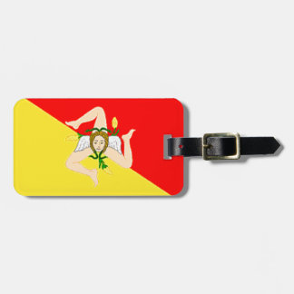 Sicily (Italy) Flag Tag For Bags