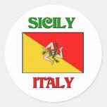 Sicily Italy Round Sticker
